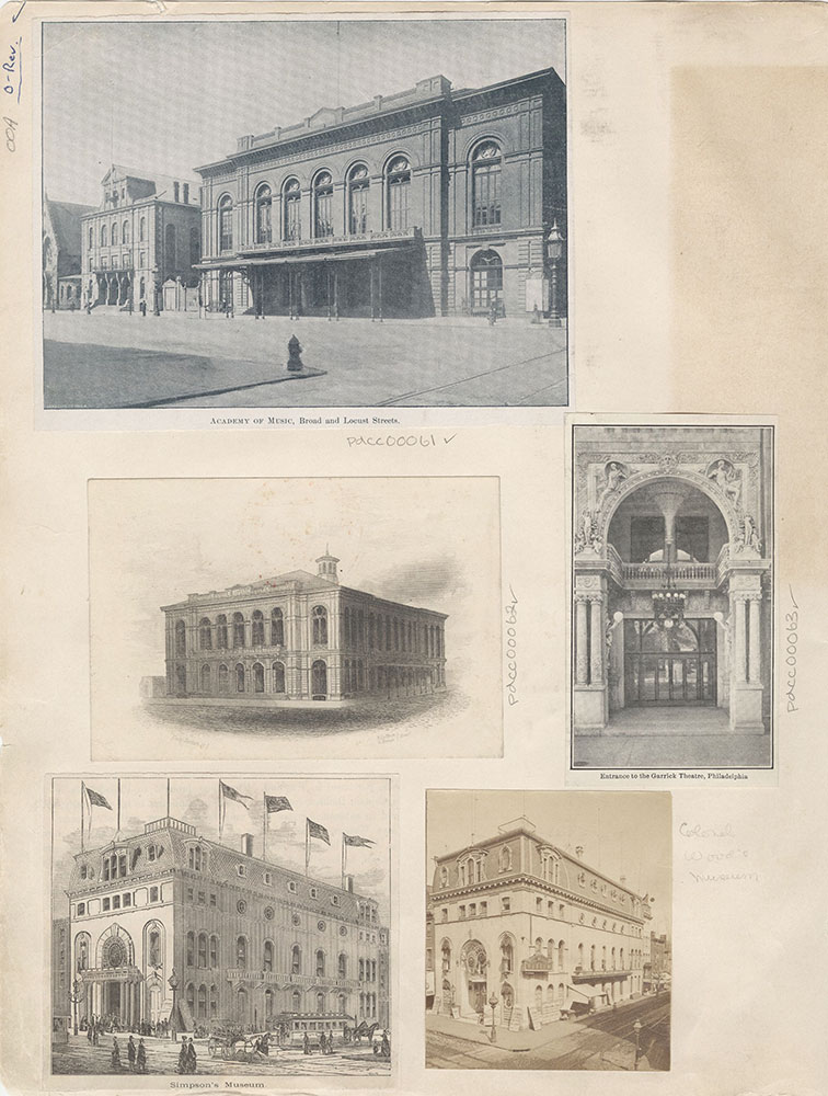 Castner Scrapbook v.2, Theatres, page 00A