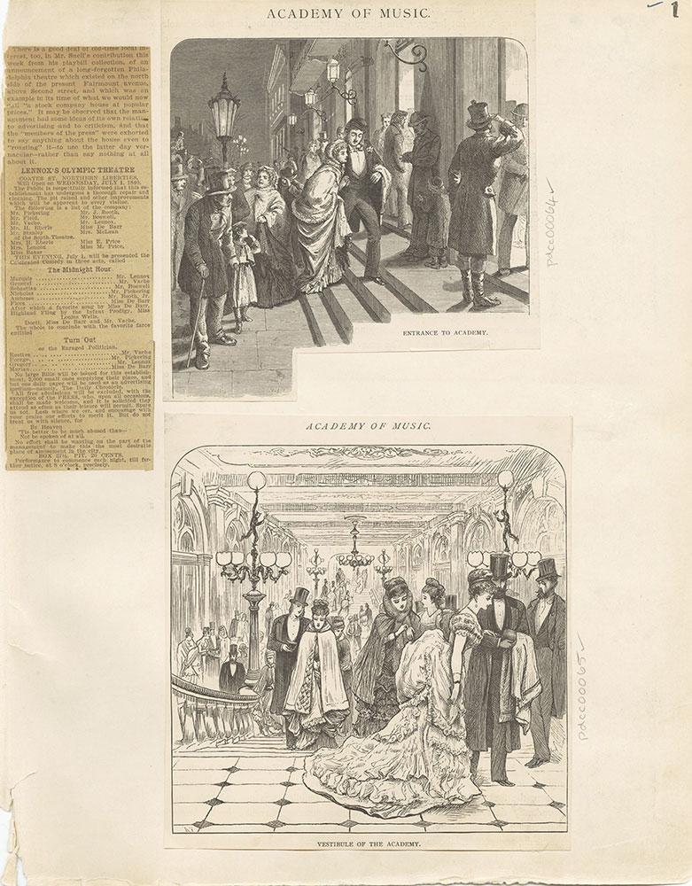 Castner Scrapbook v.2, Theatres, page 1