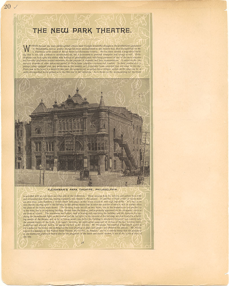 Castner Scrapbook v.2, Theatres, page 20