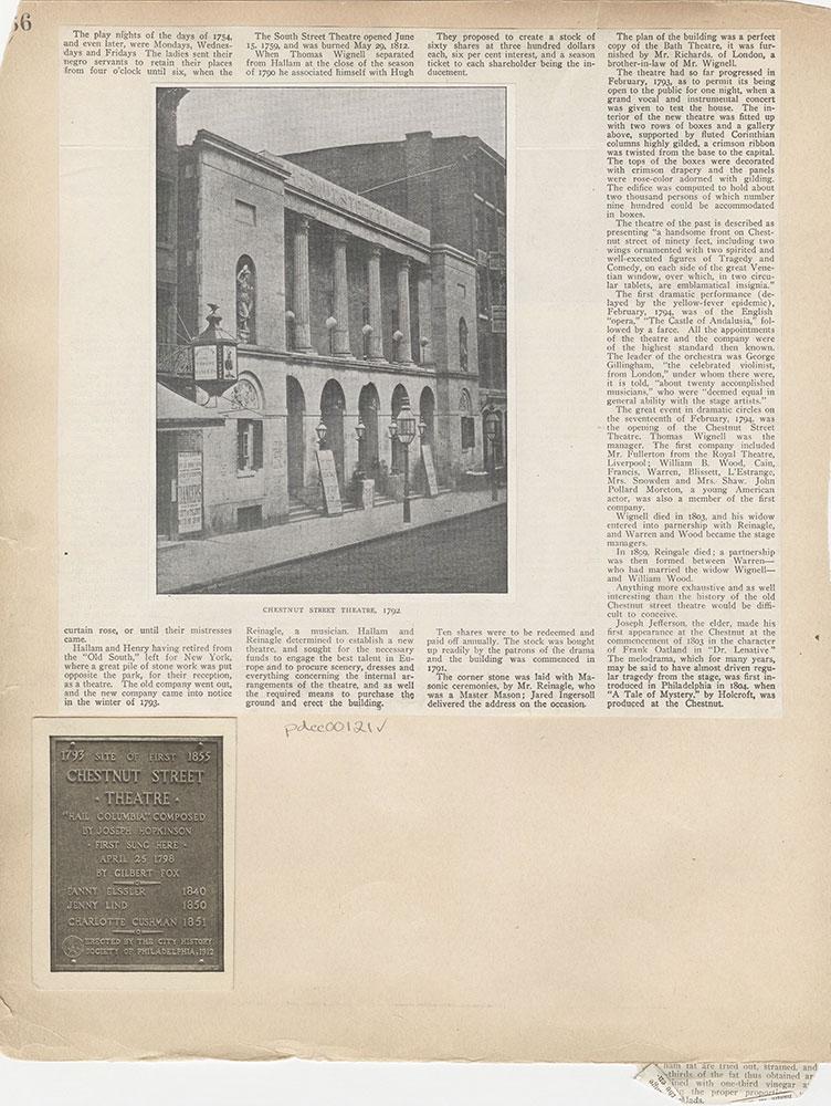 Castner Scrapbook v.2, Theatres, page 36