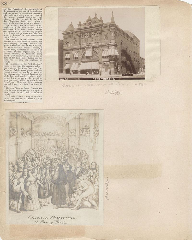 Castner Scrapbook v.2, Theatres, page 38
