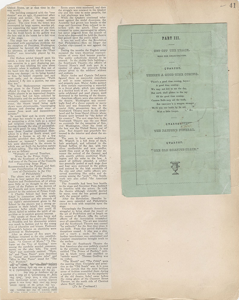 Castner Scrapbook v.2, Theatres, page 41