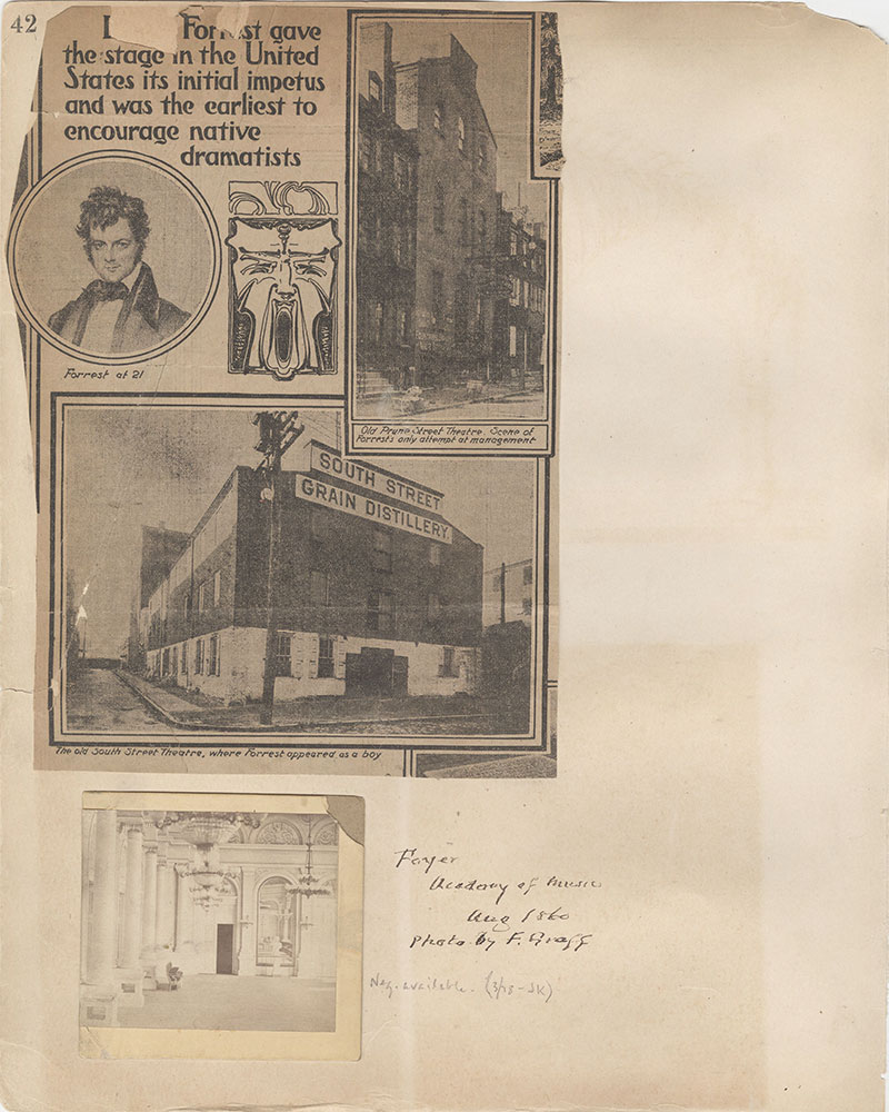 Castner Scrapbook v.2, Theatres, page 42