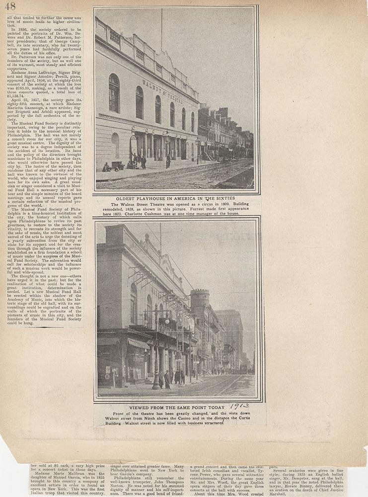 Castner Scrapbook v.2, Theatres, page 48