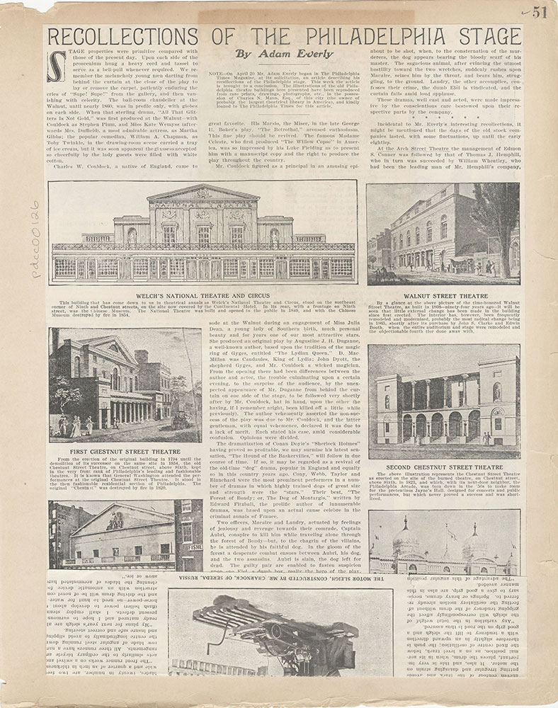 Castner Scrapbook v.2, Theatres, page 51
