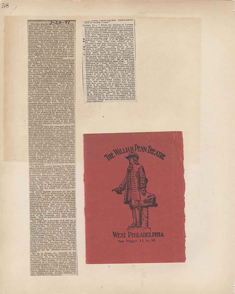 Castner Scrapbook v.2, Theatres, page 58