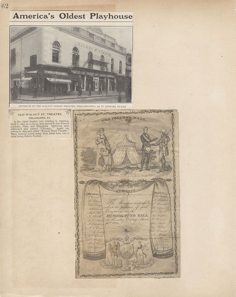 Castner Scrapbook v.2, Theatres, page 62