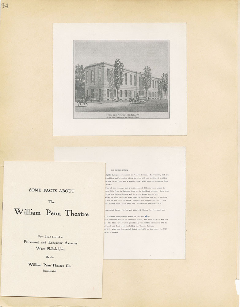 Castner Scrapbook v.2, Theatres, page 94