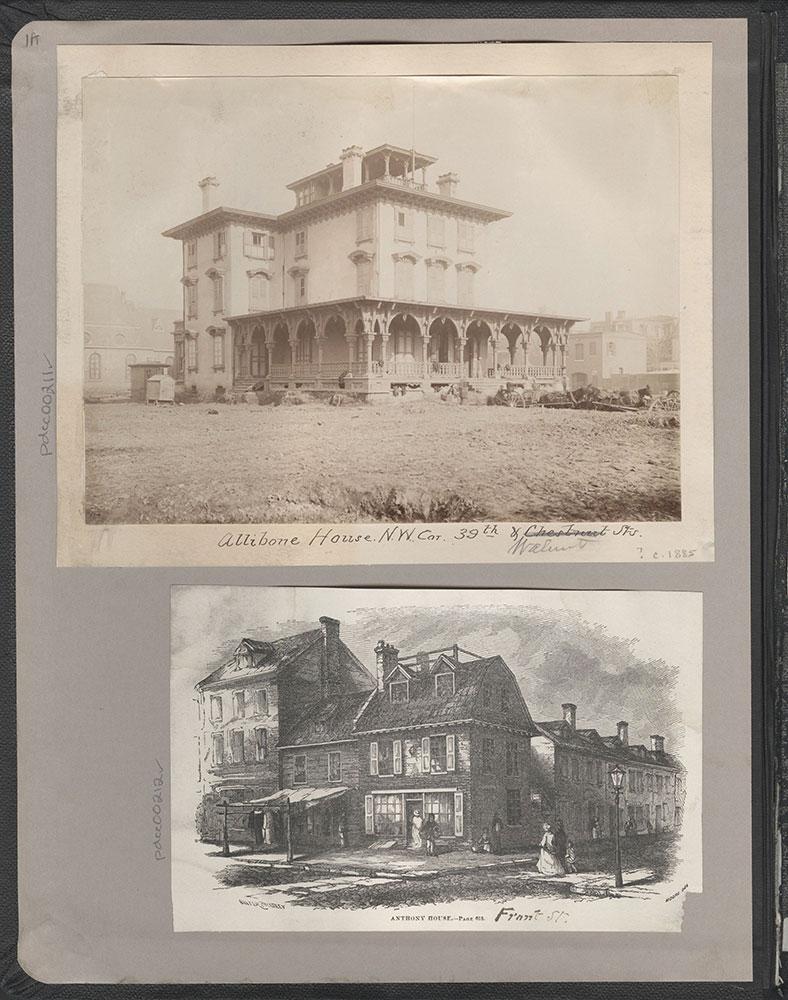 Castner Scrapbook v.4, Old Houses 1, page 1A (inside front cover)