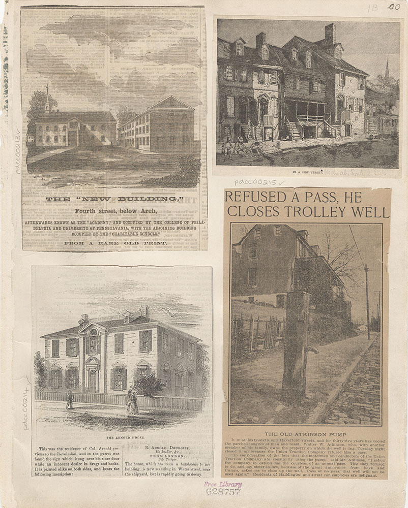 Castner Scrapbook v.4, Old Houses 1, page 1B
