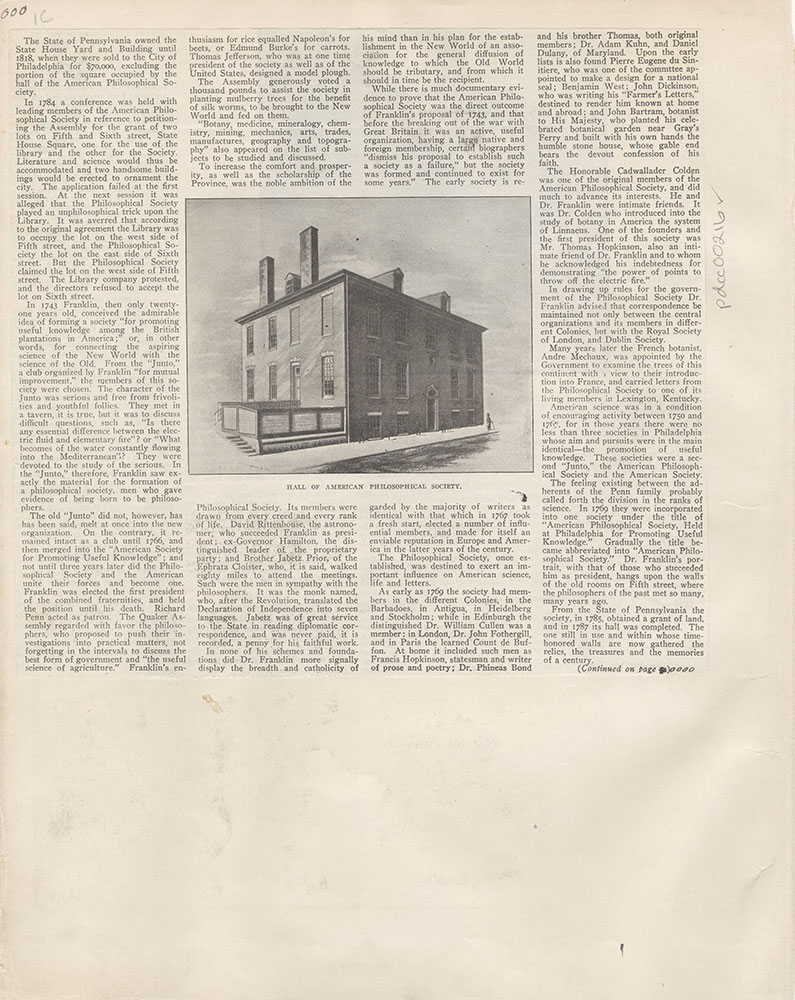 Castner Scrapbook v.4, Old Houses 1, page 1C