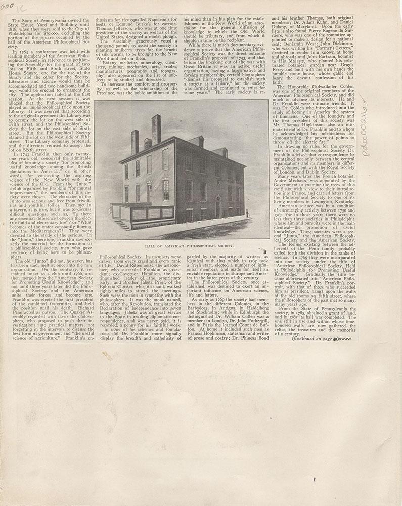 Castner Scrapbook v.4, Old Houses 1, page 1C