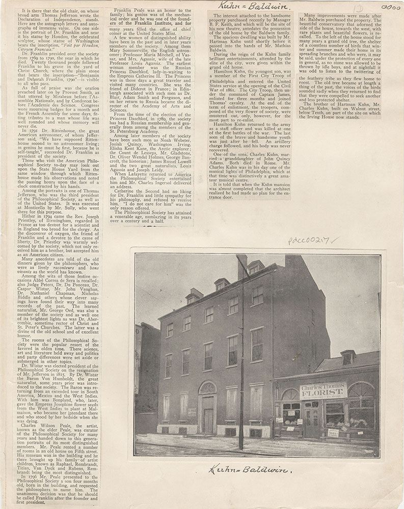 Castner Scrapbook v.4, Old Houses 1, page 1D