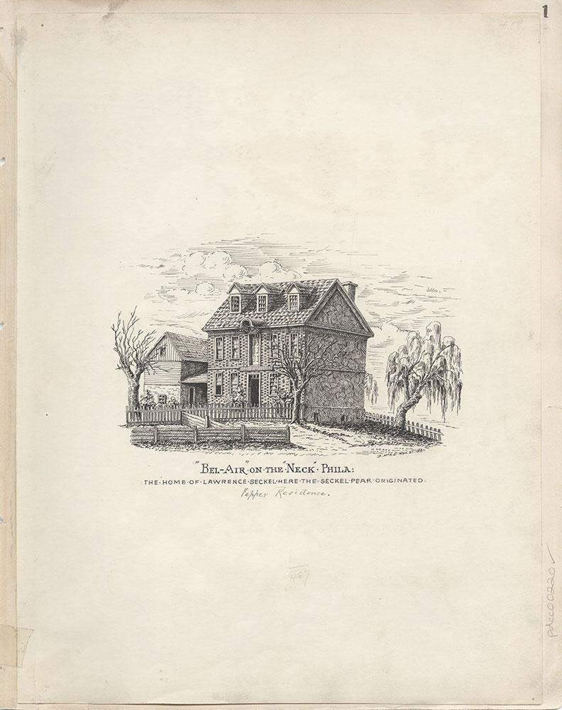 Castner Scrapbook v.4, Old Houses 1, page 1