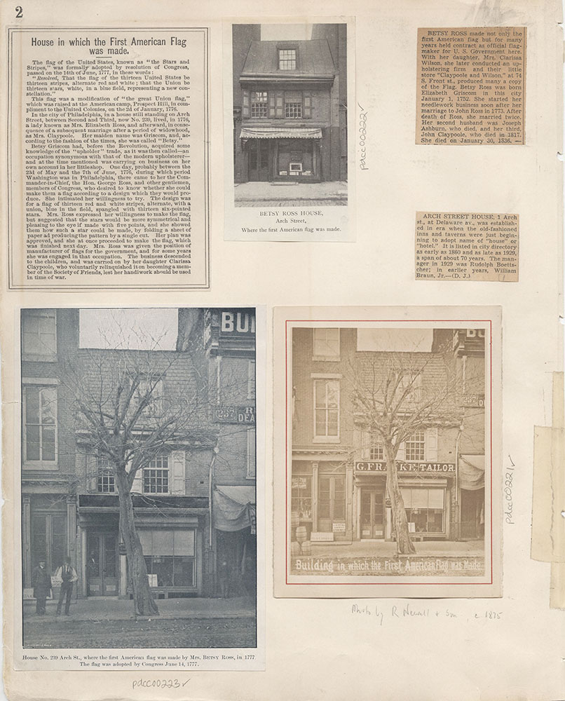 Castner Scrapbook v.4, Old Houses 1, page 2