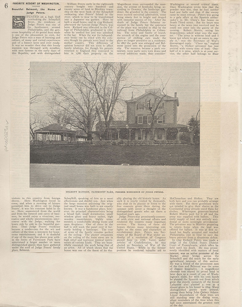 Castner Scrapbook v.4, Old Houses 1, page 6