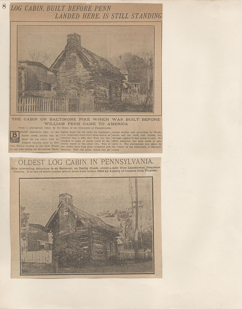 Castner Scrapbook v.4, Old Houses 1, page 8
