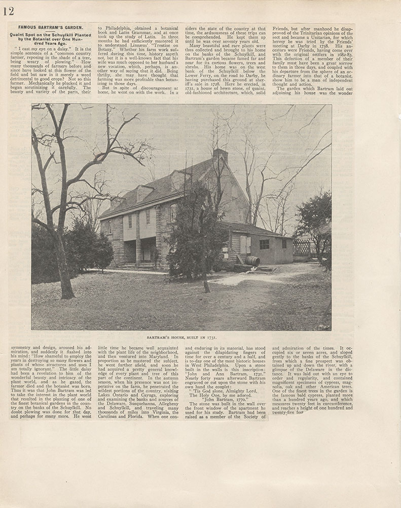 Castner Scrapbook v.4, Old Houses 1, page 12
