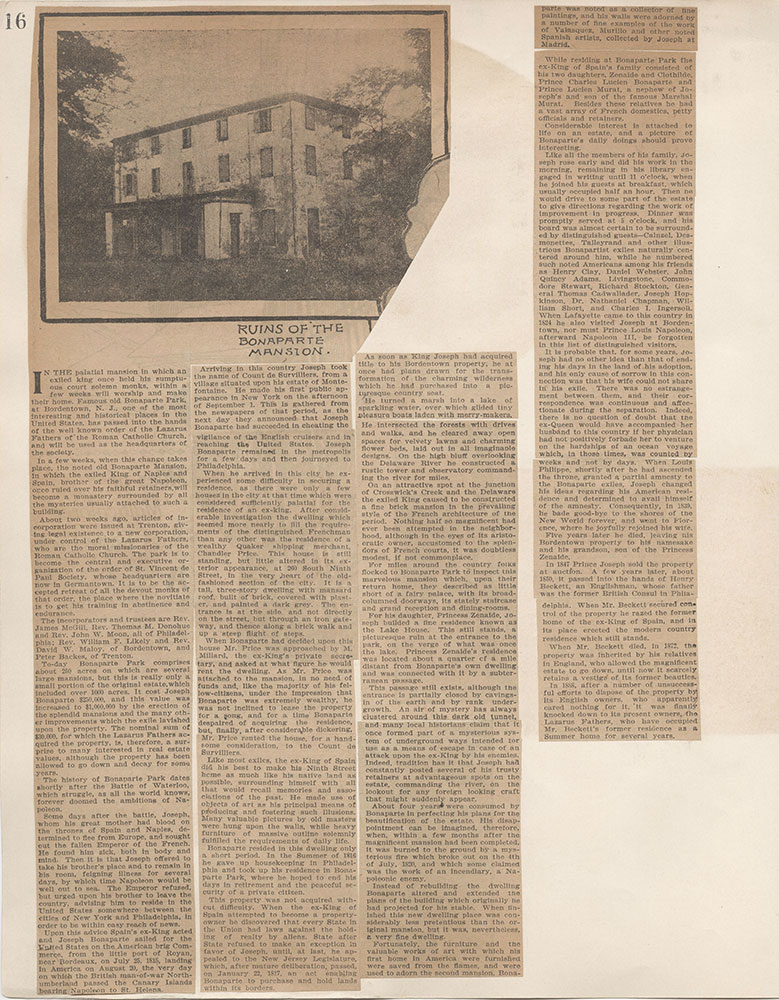 Castner Scrapbook v.4, Old Houses 1, page 16