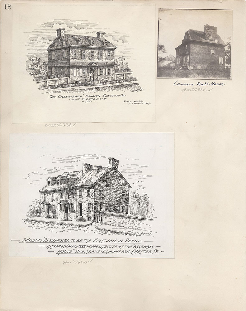 Castner Scrapbook v.4, Old Houses 1, page 18