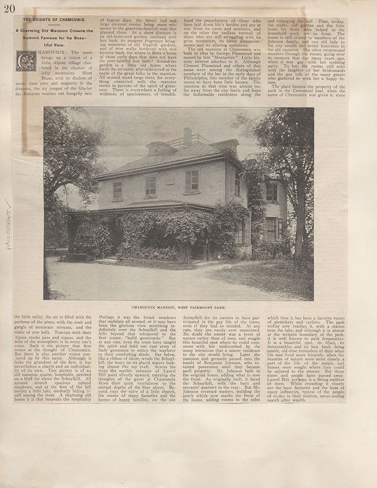 Castner Scrapbook v.4, Old Houses 1, page 20
