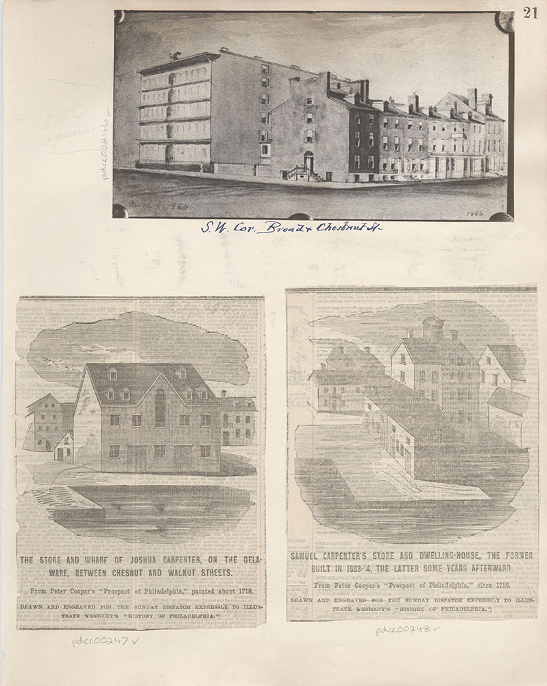 Castner Scrapbook v.4, Old Houses 1, page 21