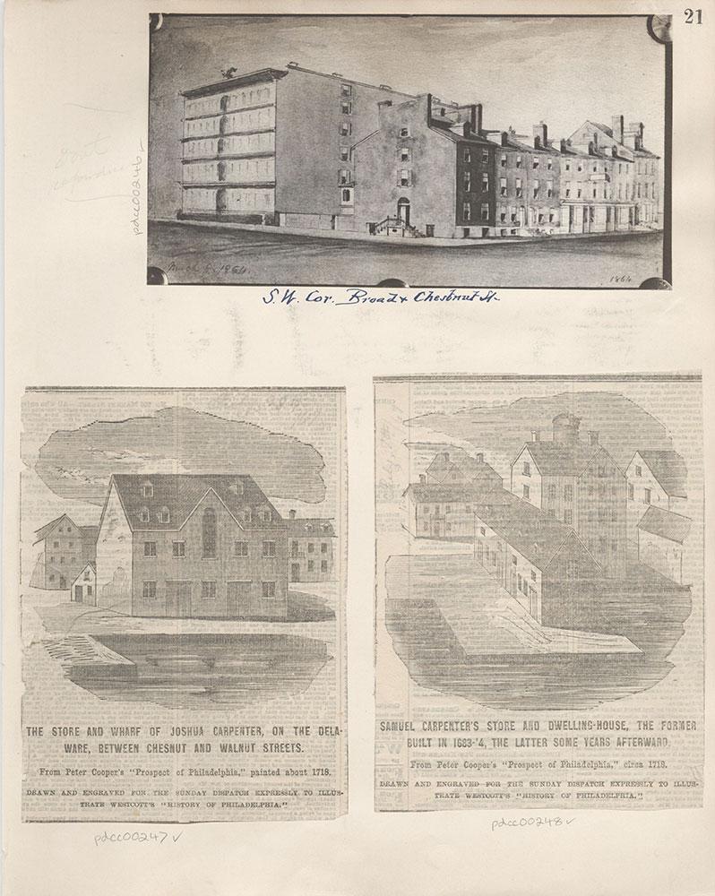 Castner Scrapbook v.4, Old Houses 1, page 21