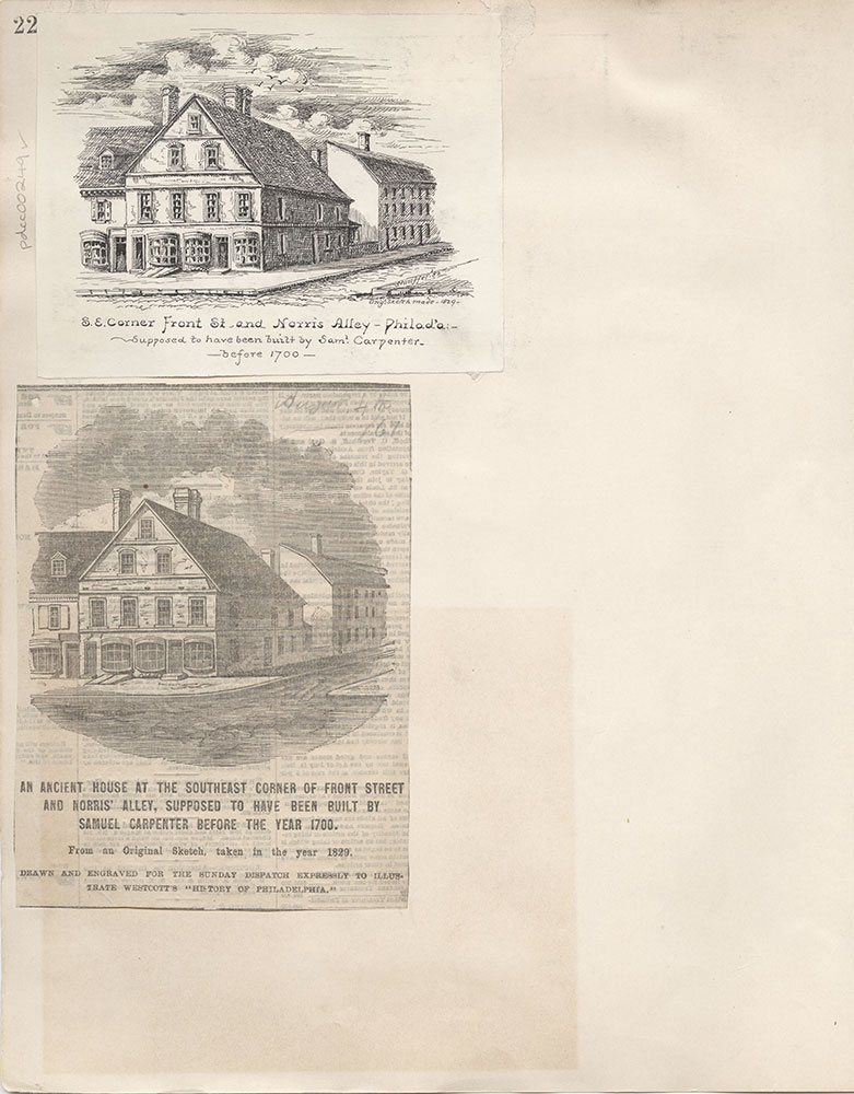 Castner Scrapbook v.4, Old Houses 1, page 22