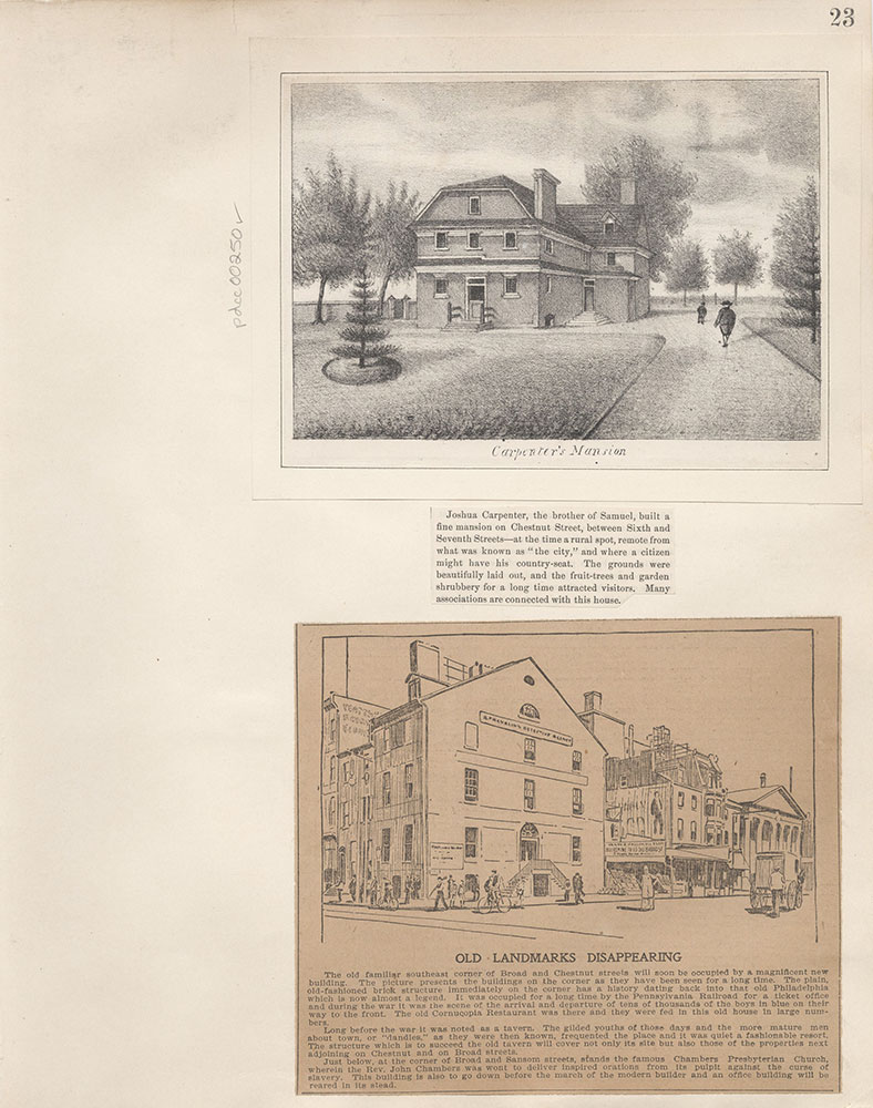 Castner Scrapbook v.4, Old Houses 1, page 23