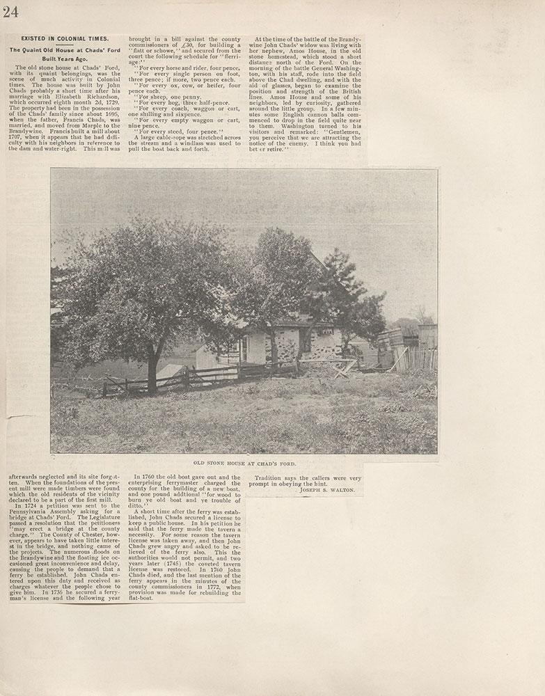 Castner Scrapbook v.4, Old Houses 1, page 24