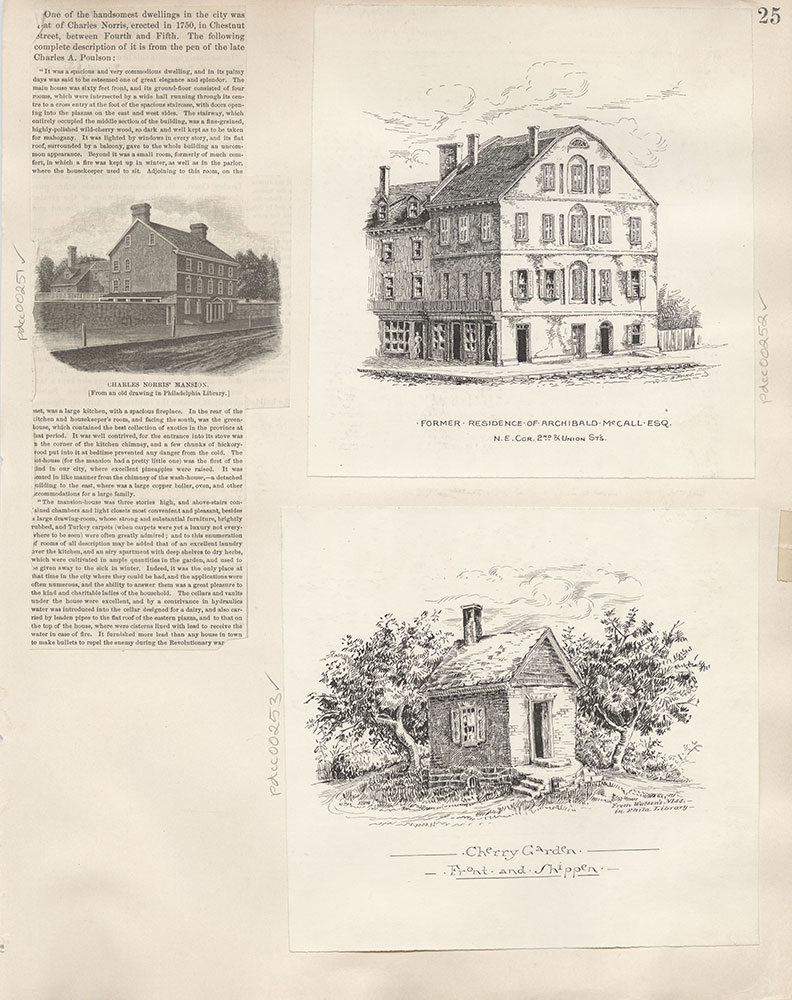 Castner Scrapbook v.4, Old Houses 1, page 25