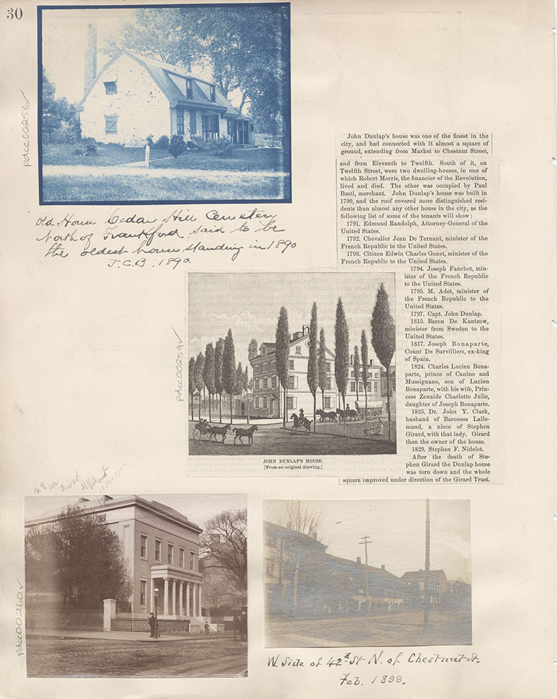 Castner Scrapbook v.4, Old Houses 1, page 30
