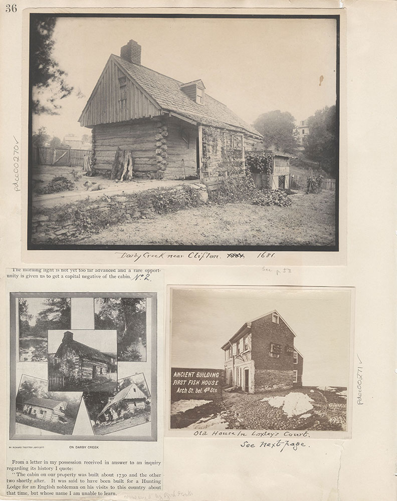 Castner Scrapbook v.4, Old Houses 1, page 36