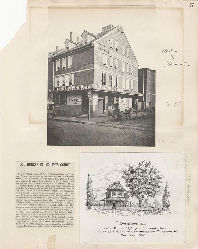 Castner Scrapbook v.4, Old Houses 1, page 37