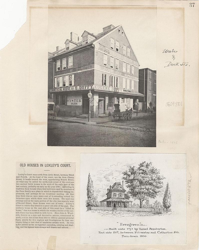Castner Scrapbook v.4, Old Houses 1, page 37