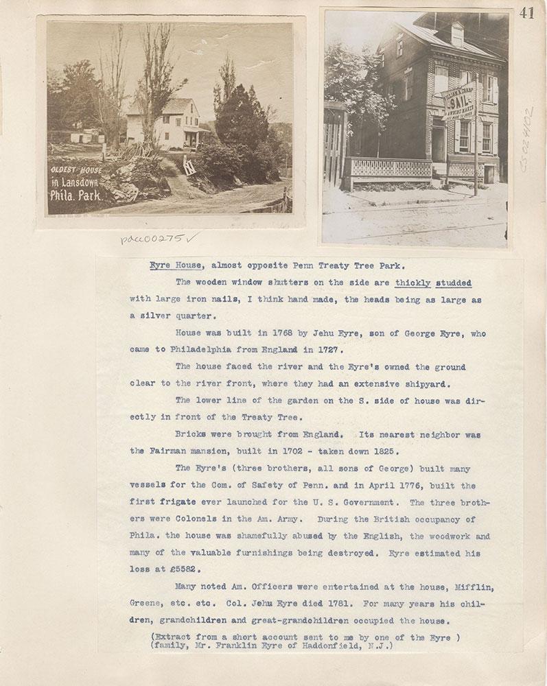 Castner Scrapbook v.4, Old Houses 1, page 41