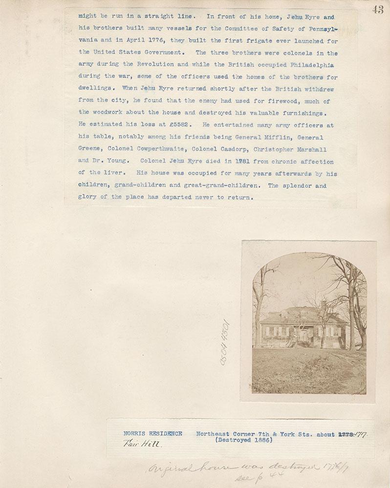 Castner Scrapbook v.4, Old Houses 1, page 43