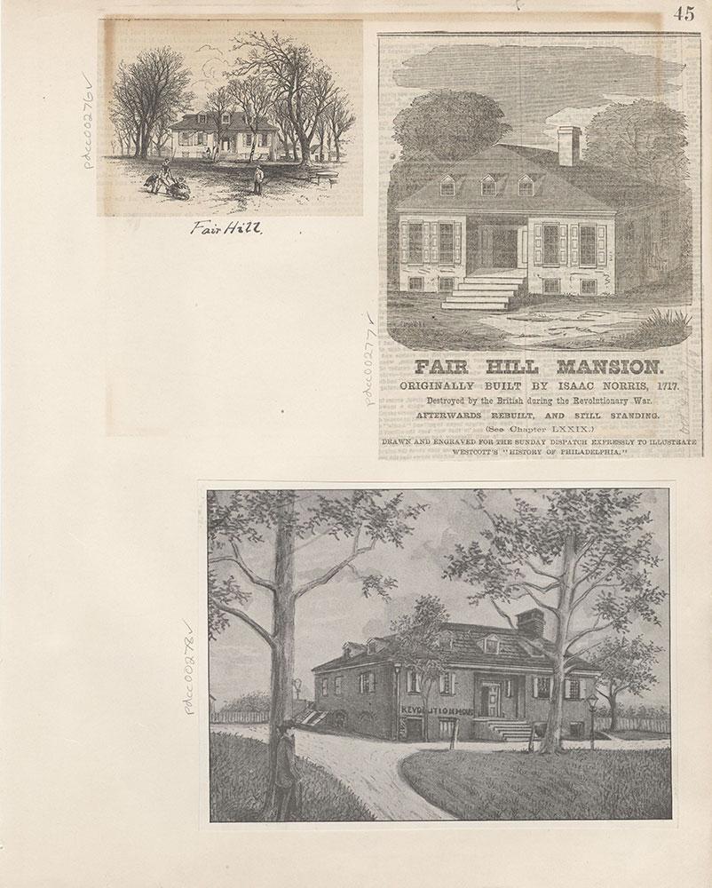 Castner Scrapbook v.4, Old Houses 1, page 45