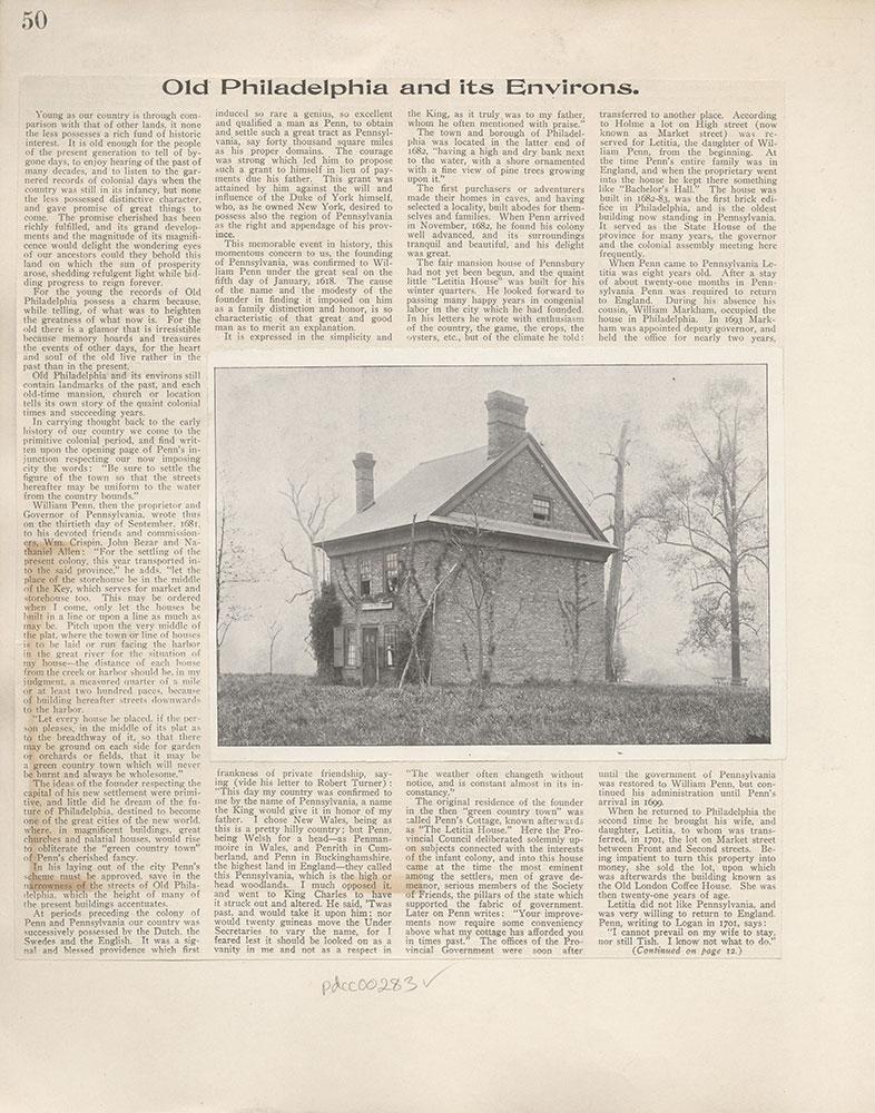 Castner Scrapbook v.4, Old Houses 1, page 50