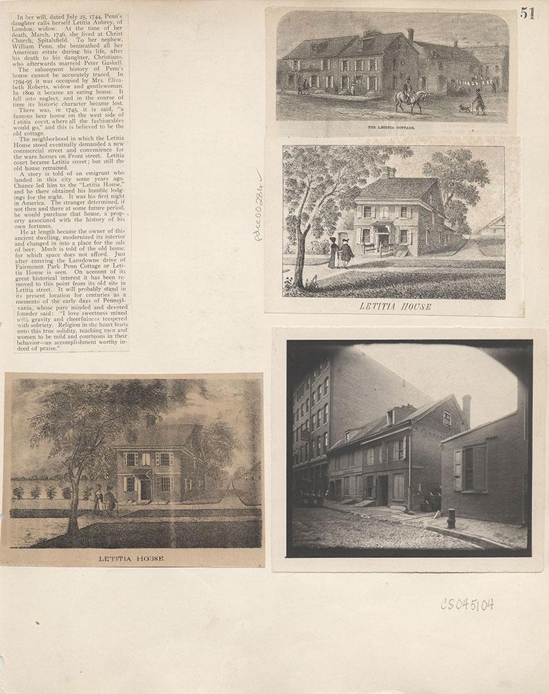 Castner Scrapbook v.4, Old Houses 1, page 51