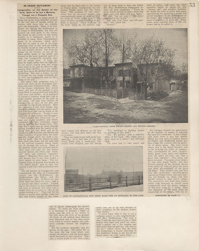 Castner Scrapbook v.4, Old Houses 1, page 53