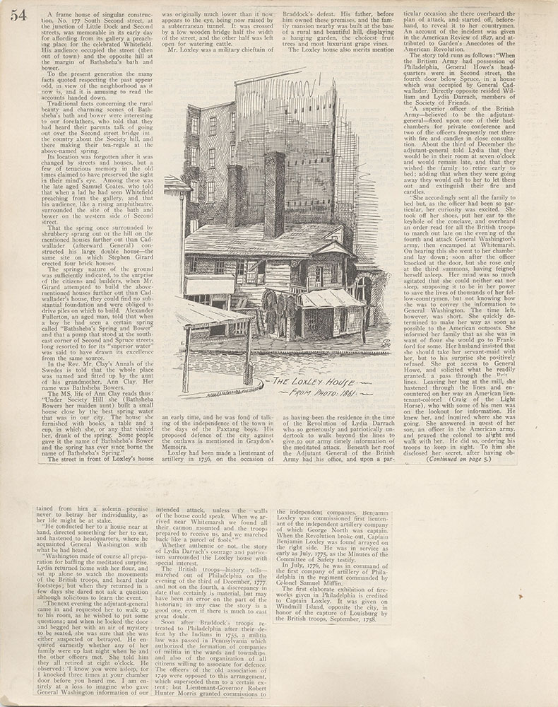 Castner Scrapbook v.4, Old Houses 1, page 54