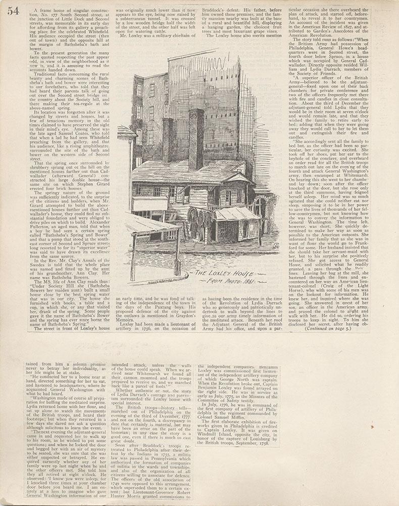 Castner Scrapbook v.4, Old Houses 1, page 54