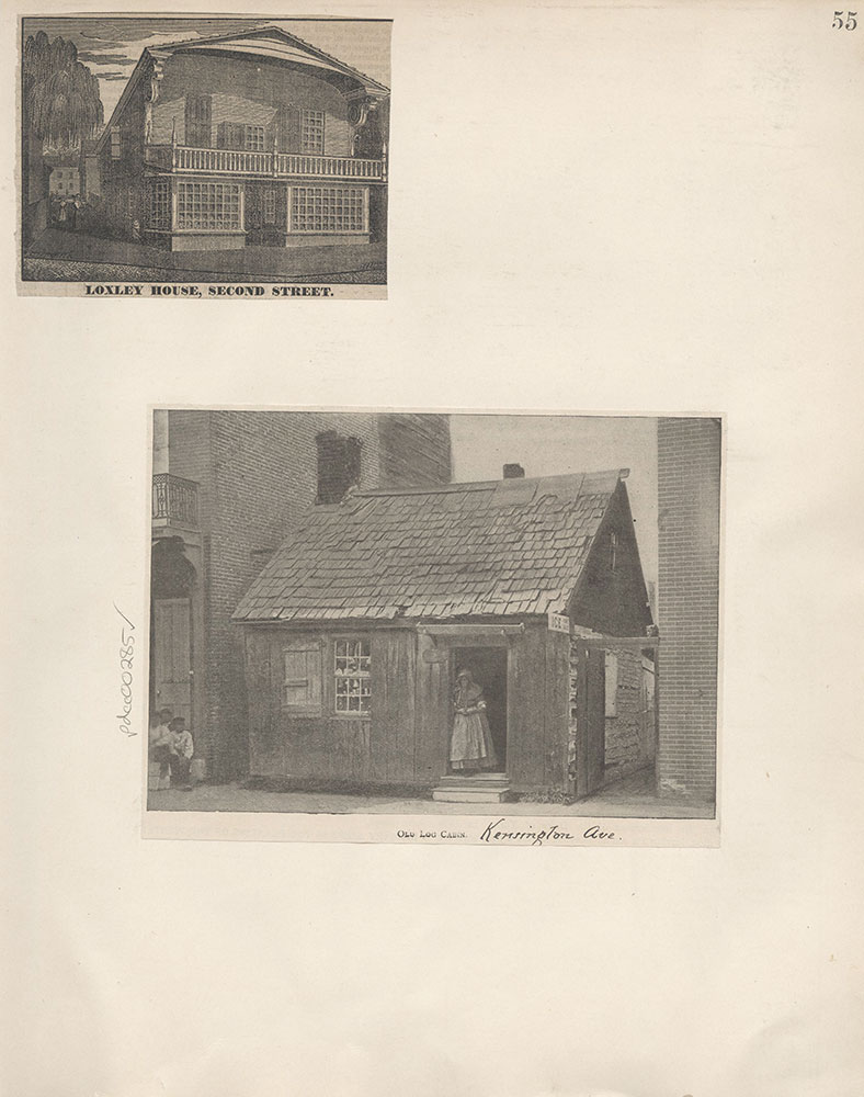 Castner Scrapbook v.4, Old Houses 1, page 55