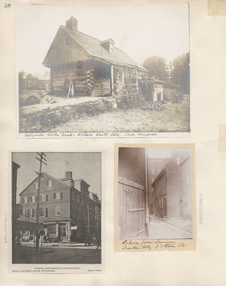 Castner Scrapbook v.4, Old Houses 1, page 58