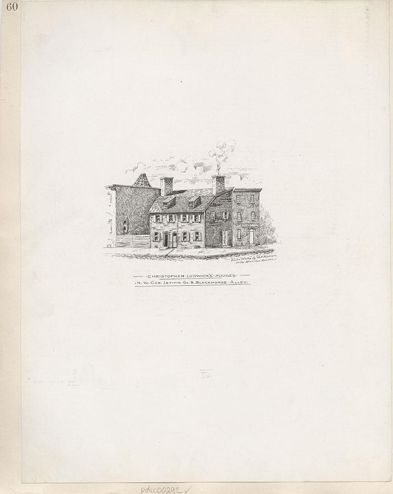 Castner Scrapbook v.4, Old Houses 1, page 60
