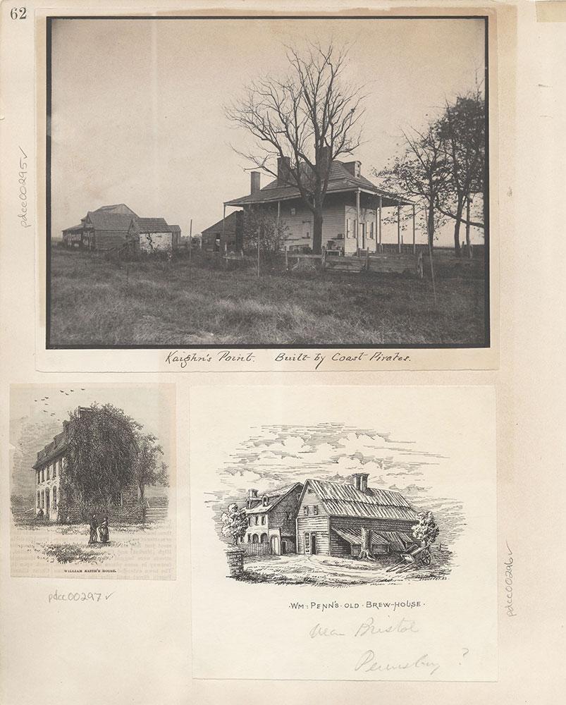 Castner Scrapbook v.4, Old Houses, page 62