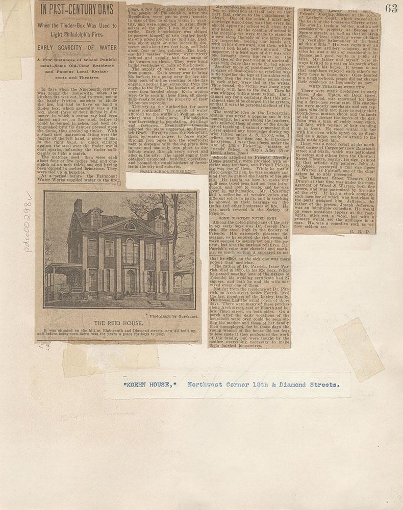 Castner Scrapbook v.4, Old Houses 1, page 63