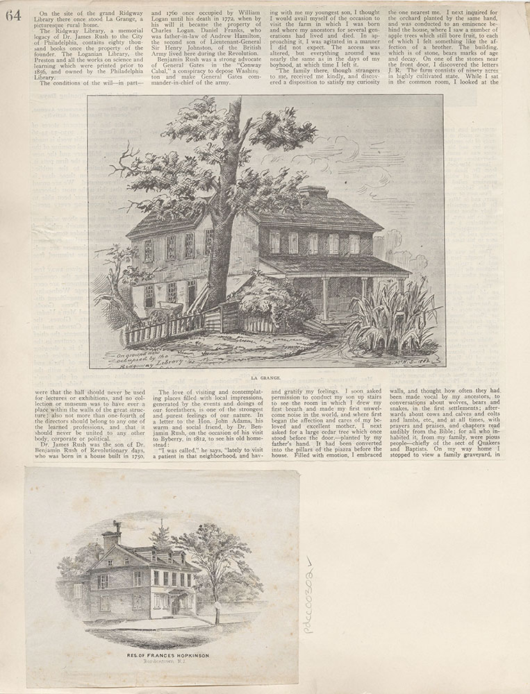 Castner Scrapbook v.4, Old Houses 1, page 64