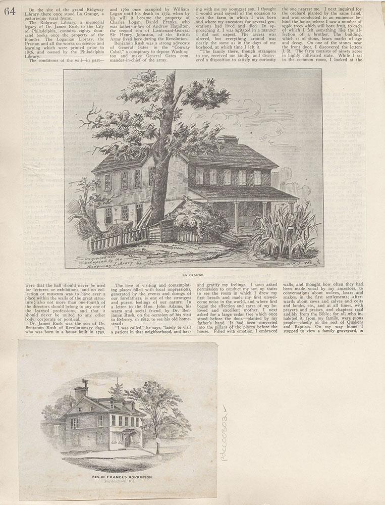 Castner Scrapbook v.4, Old Houses 1, page 64